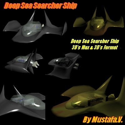 3d model of deep sea