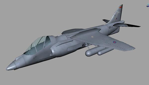 harrier planes 3d model