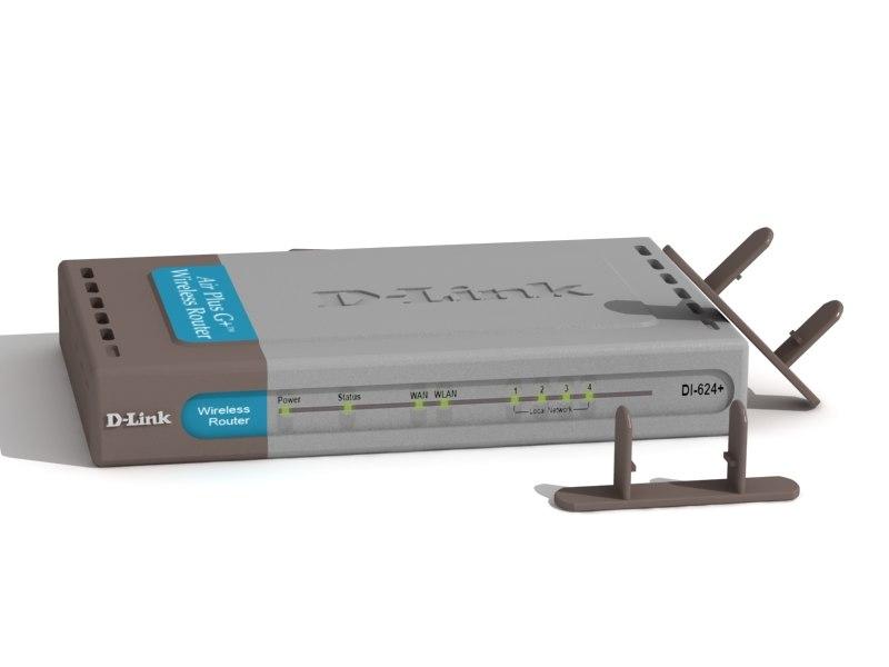 3d d-link 624 model