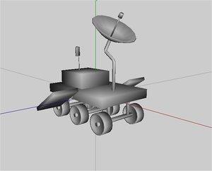 mars explorer 3d model