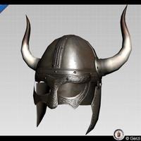 Viking Horned Helmet Low-Poly