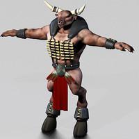 Minotaur Character (Dressed)