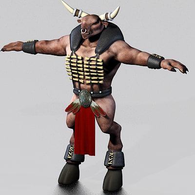 minotaur character 3d model