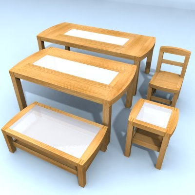 set tables chair wood max