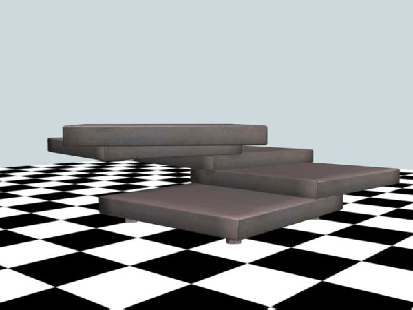 free rotor coffee table 3d model