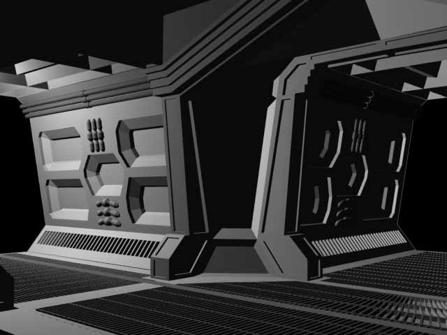 aliens style spaceship space 3d model
