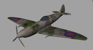 3d model supermarine spitfire