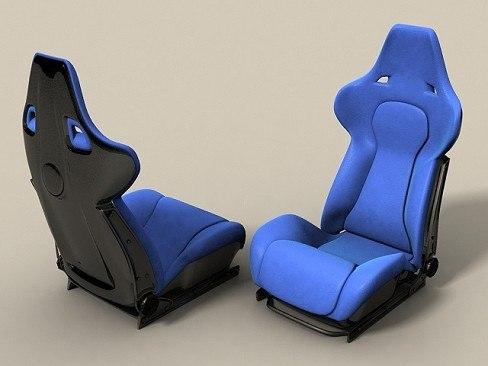 recaro racing seat 3d model