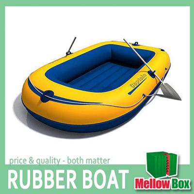 rubber boat 3d model