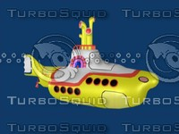 free beatles yellow submarine 3d model