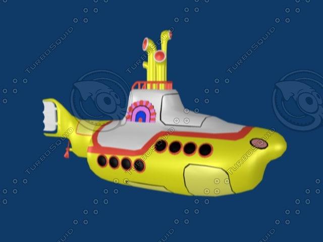 free beatles yellow submarine 3d model