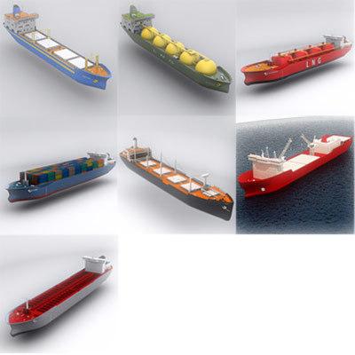 ship commercial 3d lwo