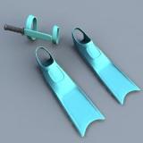 scuba diving 3d model