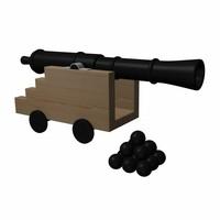 3d model canon