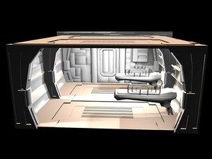 3d interiors sets zipped model