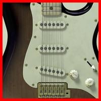 vintage electric guitar 3d max