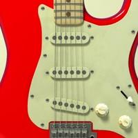 stratocaster electric guitar 3d c4d