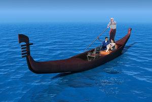italian gondola 3d model