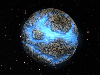 3d planet water