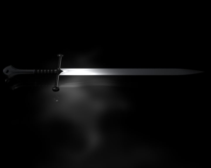 free blend model sword cutted