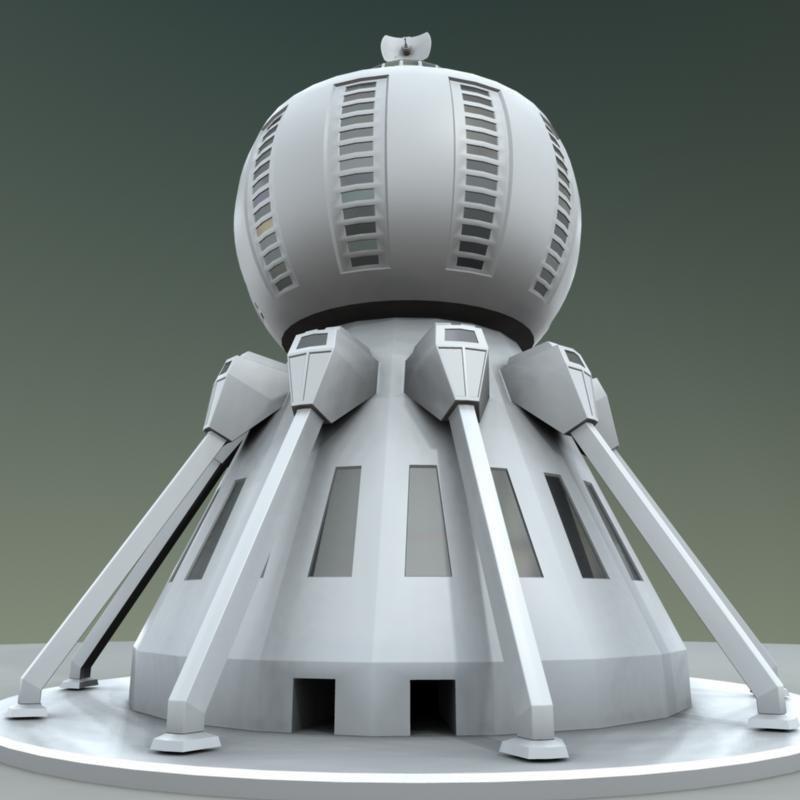 lightwave skyscraper sci-fi metropolis