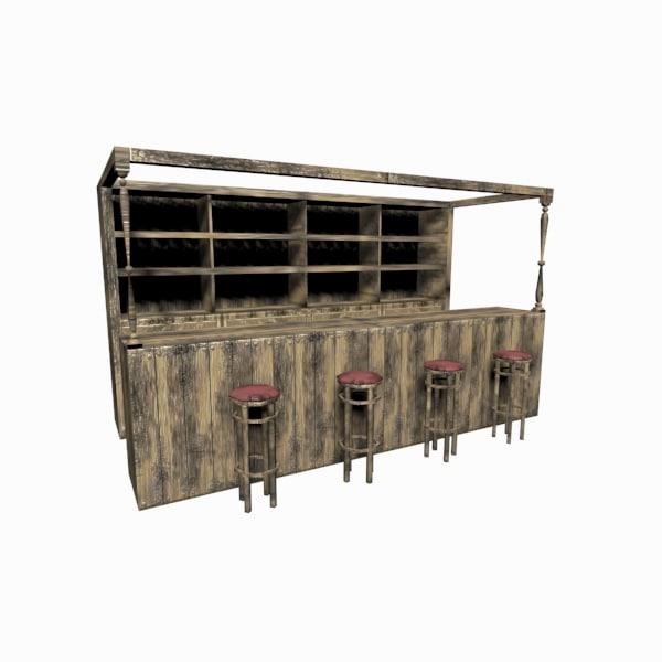 3d bar games model
