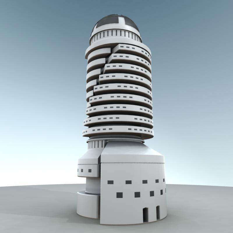 skyscraper sci-fi metropolis max