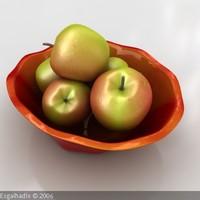 3ds max apples fruit