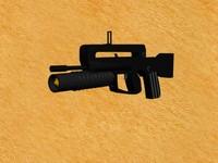 modern rifle m203 3d max