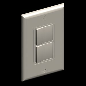 3ds max decora style wall plate