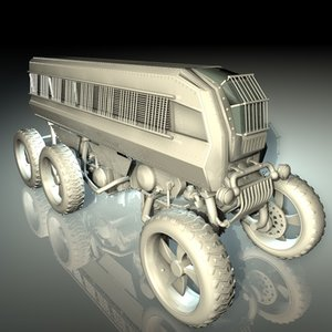 3d model vehicle truck industrial