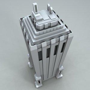 skyscraper sci-fi metropolis 3d model