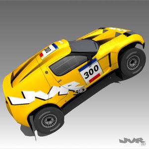 design rally-raid racing car 3d model