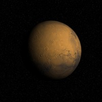 red planet mars 3d model