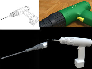 drill machine 3d model
