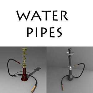 water pipes 3d model