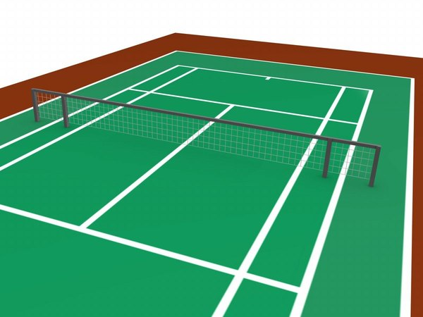 tennis court arena 3d model