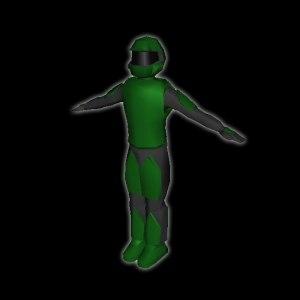 free futuristic soldier 3d model