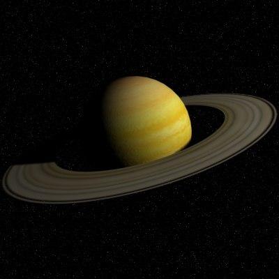 3d model saturn planet