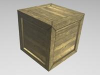3d crate games model