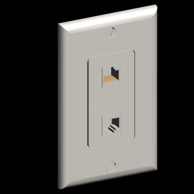 3ds max network connector decora plate