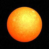 3d model sun sol star
