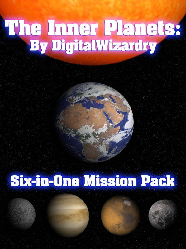 3dsmax 6-in-1 mission pack solar