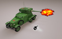 ba6 armored car c4d free