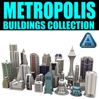 3d model metropolis buildings skyscrapers