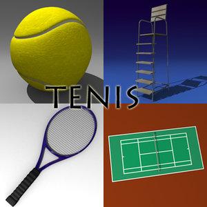 tennis field obj