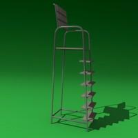 tennis chair 3ds