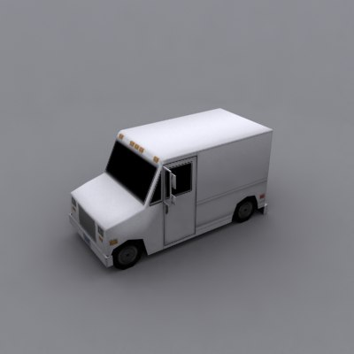 3ds max delivery truck