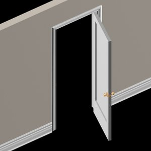 complete door kit wall 3d model