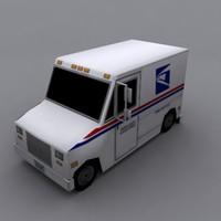 3d u s mail truck